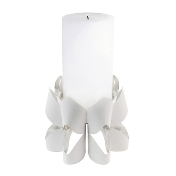 Palea Candle Holder - White - Tall