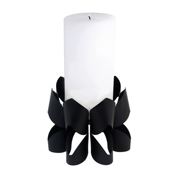 Palea Candle Holder - Black - Tall