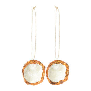 Agate Stone Christmas Tree Decoration - Set of 2 - Copper