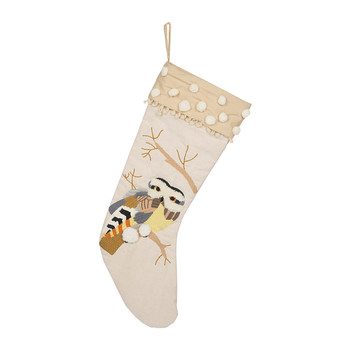 Embroidered Owl Stocking