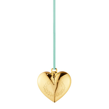 Heart Christmas Bauble - Gold