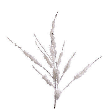 Snow Twig Stem Christmas Stem - White/Brown