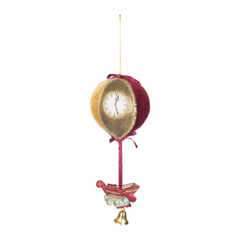 Balloon Boat Christmas Ornament - Red/Gold