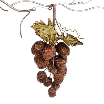 Grape Cluster Hanging Christmas Decoration - Brown