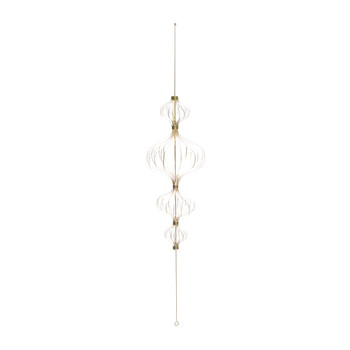 Gold Paper Hanging Christmas Decoration