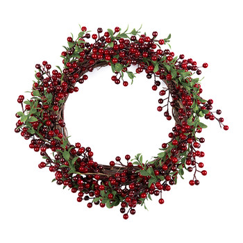 Red/Green Berry & Leaf Wreath