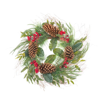 Leaf/Pine Cone Wreath