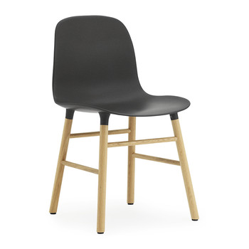 Form Chair - Oak - Black