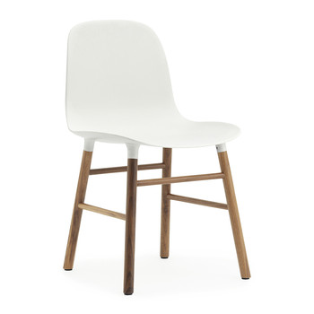 Form Chair - Walnut - White