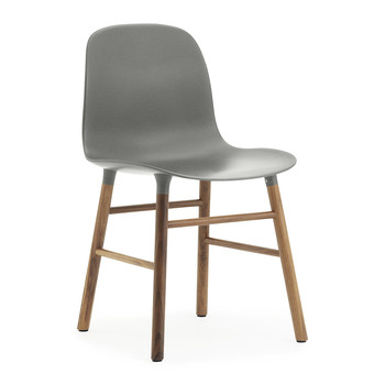 Form Chair - Walnut - Grey