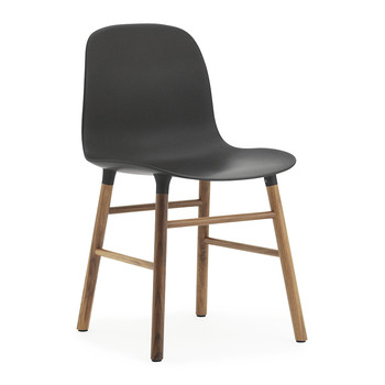 Form Chair - Walnut - Black