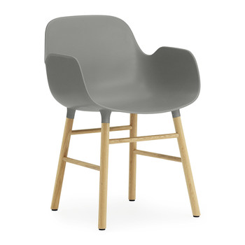 Form Armchair - Oak - Grey
