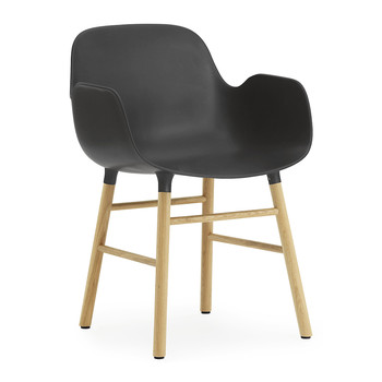 Form Armchair - Oak - Black