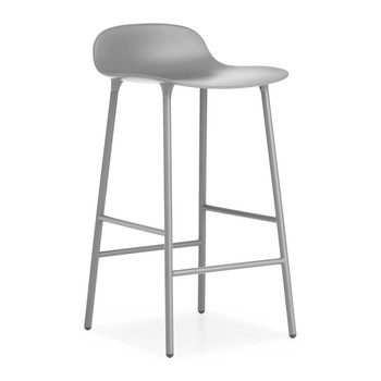 Form Barstool - Steel - Grey
