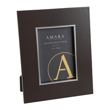 "Whinfell Leather Photo Frame - 5x7"" - Coffee"