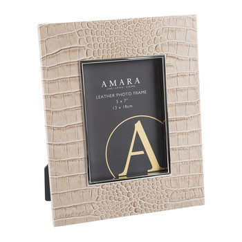 "Morfe Leather Photo Frame - 5x7"" - Sand"