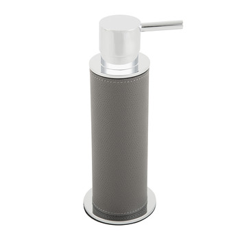 Ely Leather Soap Dispenser - Gray