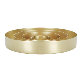 Brass Orbit Trays - Gold