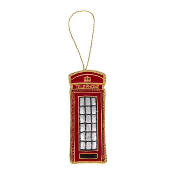 Telephone Box Christmas Tree Decoration