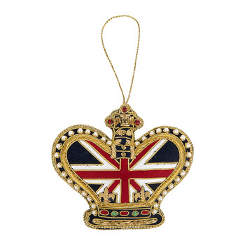 Union Jack Crown Christmas Tree Decoration