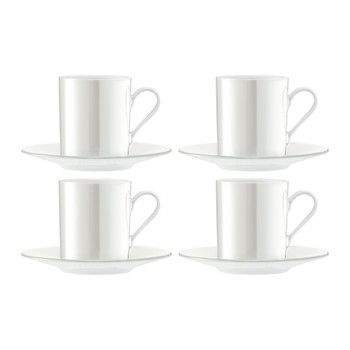 Pearl Espresso Cup & Saucer - Set of 4