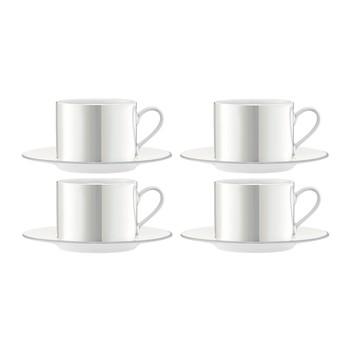 Pearl Cup & Saucer - Set of 4