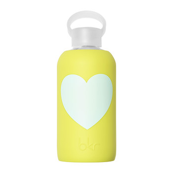 Glass Water Bottle with Heart - 500ml - Gigi