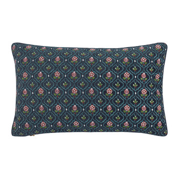 Indian Flower Pillow - 30x50cm - Dark Blue