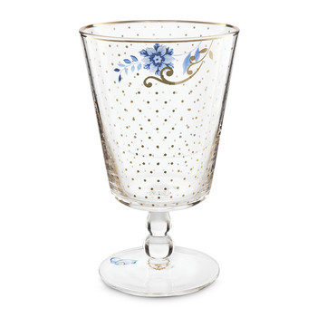 Royal Golden Dots Water Glass
