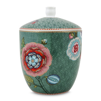 Spring To Life Storage Jar - Green