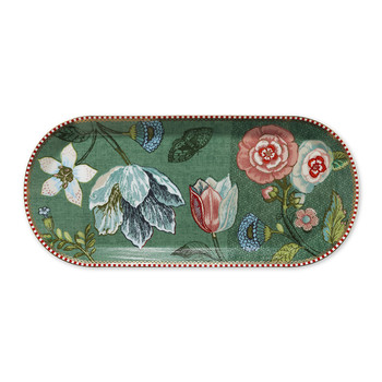 Spring To Life Rectangular Cake Tray - Green