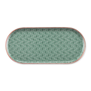 Spring To Life Rectangular Plate - Green
