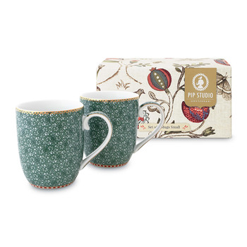 Spring To Life Mugs - Green - Set of 2