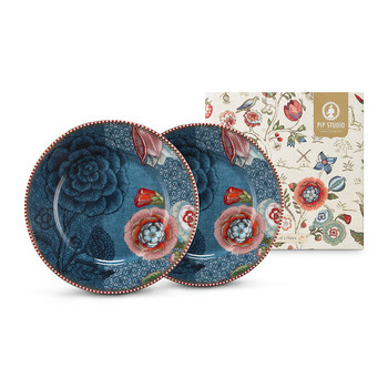 Spring To Life Plates - Set of 2 - Blue