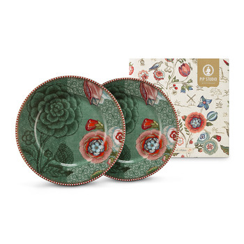 Spring To Life Plates - Set of 2 - Green