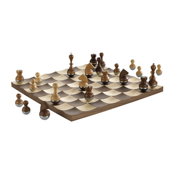 Wobble Chess Set - Walnut