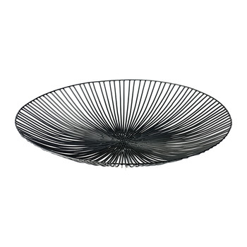 Edo Flat Serving Platter - Black