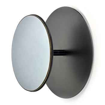 Studio Simple Round Mirrored Coat Hook - Black