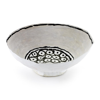 Isa Bowl - White/Black Dots
