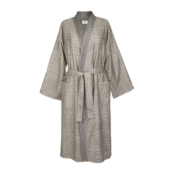 Acacia Grey Textured Bathrobe