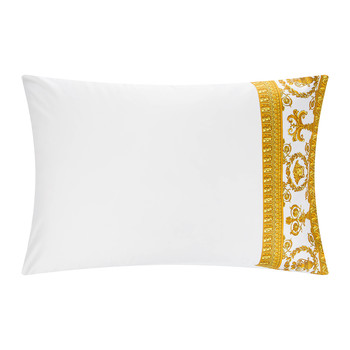 Barocco&Robe Pillowcase Pair - White/Gold