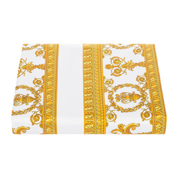 Barocco&Robe Duvet Cover - Super King - White/Gold