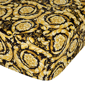Barocco 14 Fitted Sheet - 200x205cm - Black/Gold