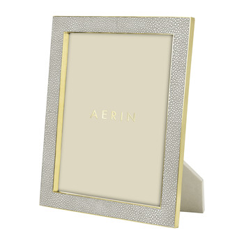 Dove Shagreen Frame