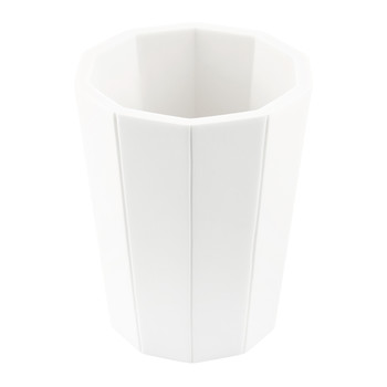 Crate Toothbrush Holder - White