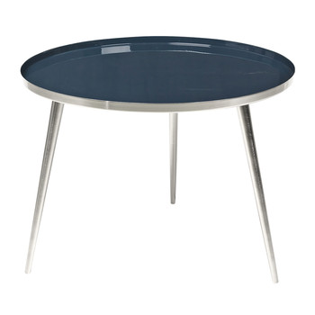 Jelva Side Table - Steel/Insignia Blue