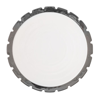 Machine Collection Dinner Plate - Design 2 Silver