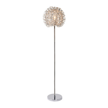 Noon Satin Chrome Floor Lamp