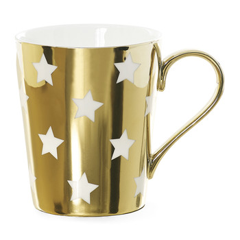 Stars Coffee Mug - Gold