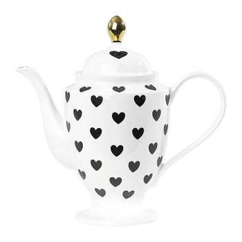 Hearts Teapot - Black